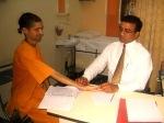 Dr. Nirmalchandra Pravhu and patient