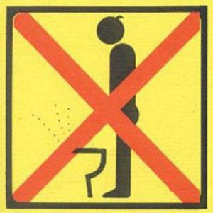 unhealthy pee or urinate by standing